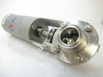 Apvtriclamp Sanitary Butterfly Valve Pneumatic Actuator Sing 1.5 (Used Tested)