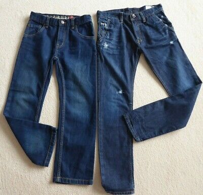 2 x SUPER PAIRS OF BOYS JEANS, 1 by DEISEL + 1 by BLUE ZOO, BOTH AGE 8 YRS.
