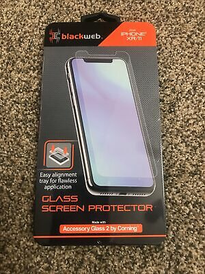 """Screen Protector iPhone XR / 11 Blackweb Condition Is """"New"""""""