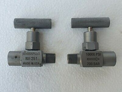 """ENERPAC NV-251 Needle Valve 1/4"""" M/F 10000 PSI / 700 Bar - Lot of 2 Nos # NEW"""