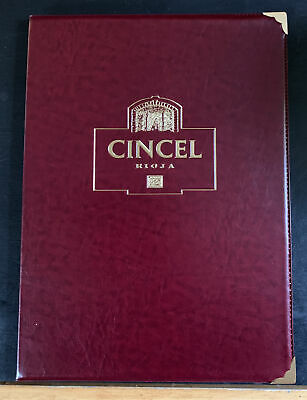 Wine List Folders X 4  - Cincel Rioja Wine