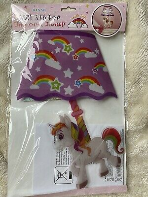 Wall Sticker Unicorn Lamp Children Fun Stocking Filler Decorations