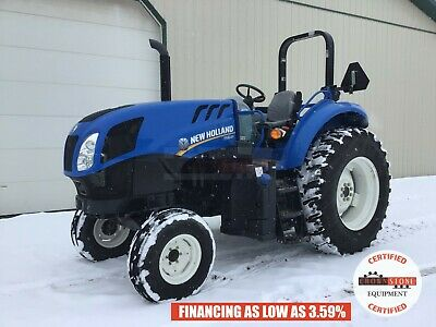 2016 New Holland Ts6.120 Tractor, 2 Post Rops, 2Wd, 3 Pt, 540 Pto, Lhr, 5 Hrs