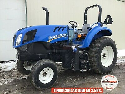 2016 New Holland Ts6.110 Tractor, 2 Post Rops, 3 Pt, 540 Pto, 2Wd, 8 Hrs, 110 Hp