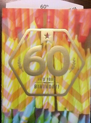 """WOW In Dog Years. Hallmark 60th BIRTHDAY Card Age 60 years /""""You/'re Turning 60"""