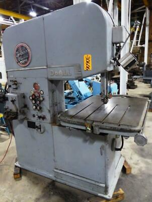 "26"" DoAll Vertical Band Saw, Model 26-3, with welder & grinder & hydraulic feed"