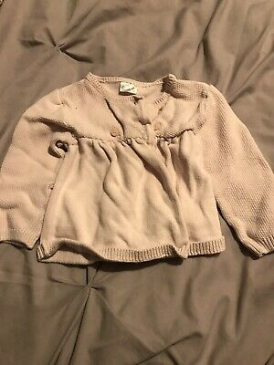 Girls Pink F&f Knitted Cardigan 6-9 Months