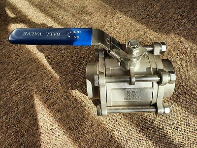 """3""""/ DN80 Stainless Steel Ball Valve With Butt-Weld (Manual Operation)"""