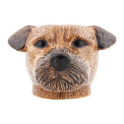 Border Terrier Dog Face Egg Cup By Quail Ceramic
