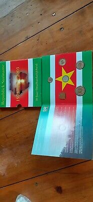 Suriname bu-set 30 years of independence 1, 5, 10, 25, 100 and 250 cents