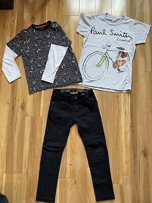 Boys bundle H&M Black Jeans Size 9-10 Years and Two T-shirts size 9-10 years