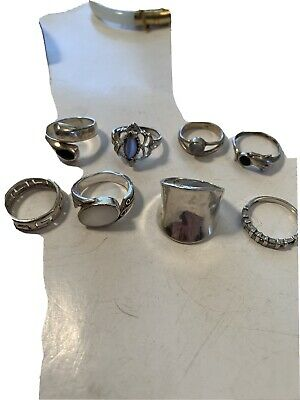 Vintage Rings Eight, Wearable Nose Scrap Cleaned 31.9 G