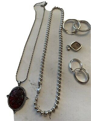 Vintage Sterling Silver Your Rings Necklaces Wearable Clean No Scrap 41.6g
