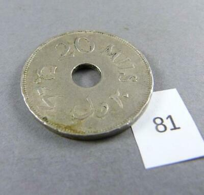 1927 Palestine 20 Mils Coin Extremely Rare!!! #81