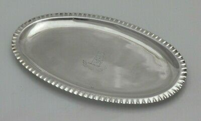 1784 Georgian Antique Solid Silver Fine Dining Table Spoon Tray Tray (1394-9-ONN