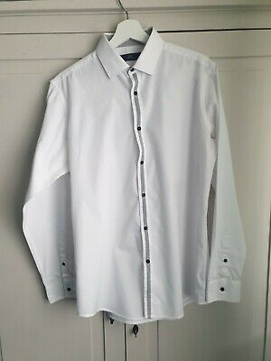 Mens Formal White Tailored  Shirt Next Excellent  Quality Size 16