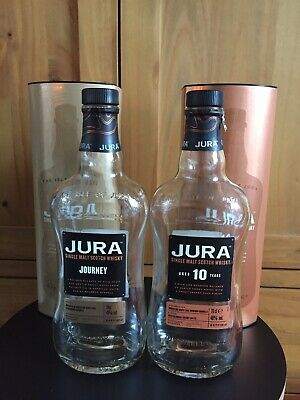 EMPTY Jura Whiskey Bottles And Boxes Collectable Upcycle Craft Bottles