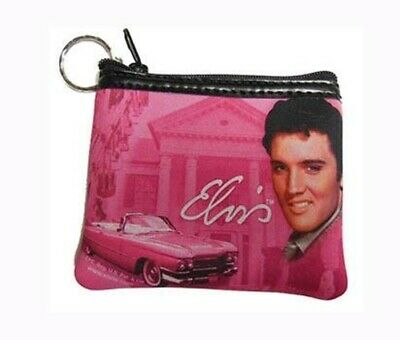 Elvis Presley Pink King of Hearts Strass Sac à Main Portefeuille BOXED NEW OFFICIAL RARE
