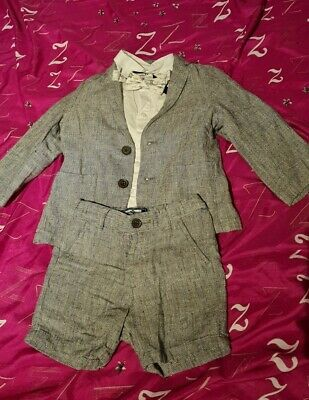 Next Grey Short Suit With Dinosaurs Age 1.5-2 Years