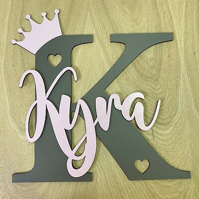 Painted Toy Box Set Personalised toy box name /& crown ONLY ANY COLOUR /& NAME