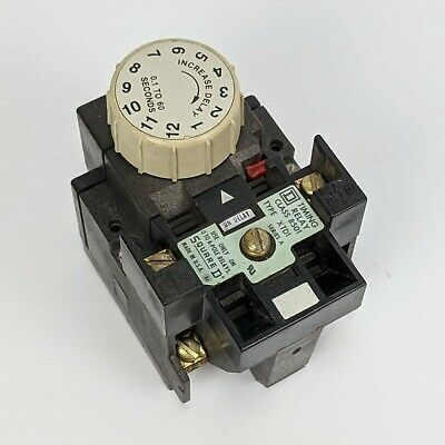Square D 8501XTD1 Timing Relay - .1s to 60s Delay Range Series A usa