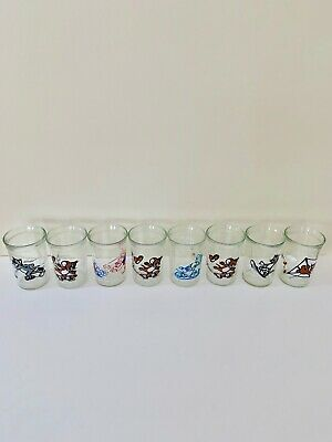 Set of 8 Vintage Collectable Welch's Tom & Jerry Glasses