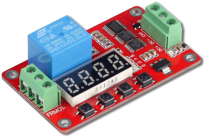 Uctronics Dc 12V Programmable Multifunction Time Delay Relay Module With Segment