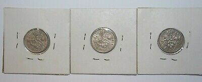 1956, 59 & 1960, Sixpence Great Britain a Lot of 3 High Grade High Value Coins