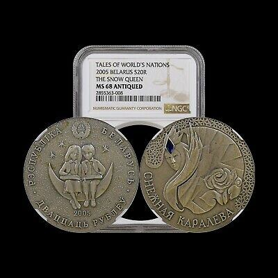 2006 Belarus 20 Roubles (Silver) - NGC MS68 - The Snow Queen RARE