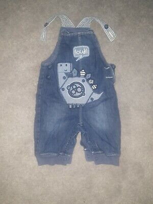 Baby Boys Denim Dungarees, Aged 0-3 Months By George At Asda