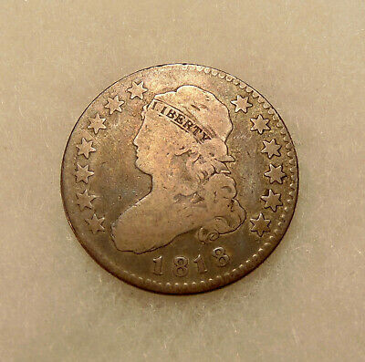 1818 Capped Bust Quarter - Scarce B-10 Var. - Nice Looking Coin - FREE SHIPPING