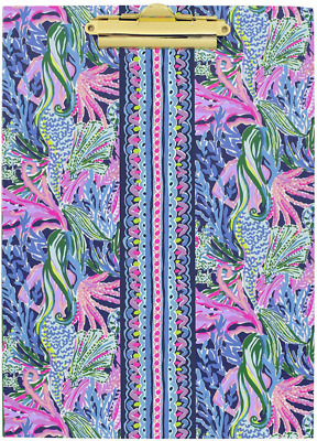 Lilly Pulitzer Colorful Clipboard Folio With 60 Page Lined Notepad And Interior