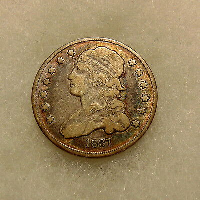 1837 Capped Bust Quarter - Sharp Looking Coin - FREE SHIPPING