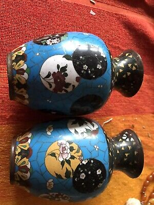 SALE!! Old Pair Of Chinese Cloisonne Vases