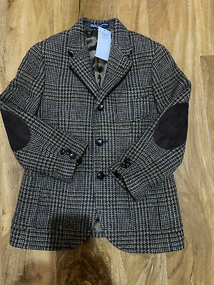 Ralph Lauren Tailored Tweed Lambswool Patched Elbow Blazer For 10 Years BNWT