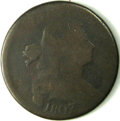 1807/6  Large Cent  G  Sheldon 273  Pointed 1, Large 7 over 6
