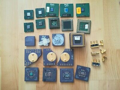 GOLD CPUs INTEL DEC AMD for GOLD scrap recovery 463 grams