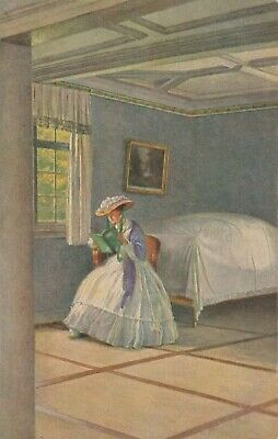 Early 1900's Colour art work by Carl Leopold Voss 'Before the walk', Arthur Rehn