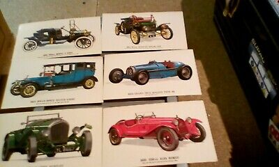 vintage motor car post cards [set of six ]   new /used condition