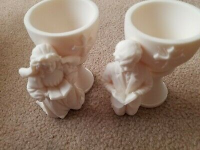 Vintage Pair of Praying Boy & Girl - Made in Italy , white candle holder