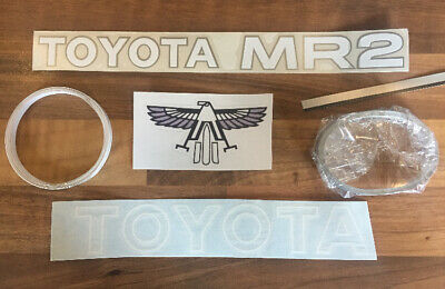 TOYOTA MR2 MK1 RARE CROSSOVER STRIPES / STICKERS AW11 DECALS. 1987 Mk1a/b KIT