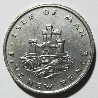 Iom Isle Of Man 5 New Pence Tower Of Refuge 1975