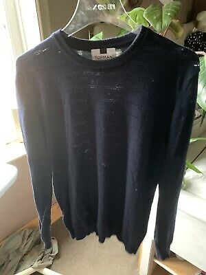 Blue Topman Jumper With Knit detail on front