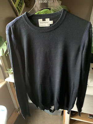Blue Topman Jumper With Tape detail