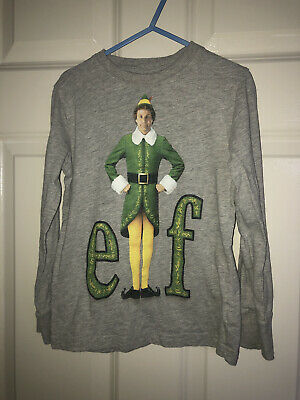 Next Age 4-5 Elf Xmas Long Sleeve Top Boys
