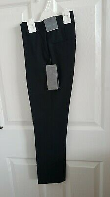 Boys Black Skinny Leg School Trousers Age 10-11 From Marks And Spencer Brand New