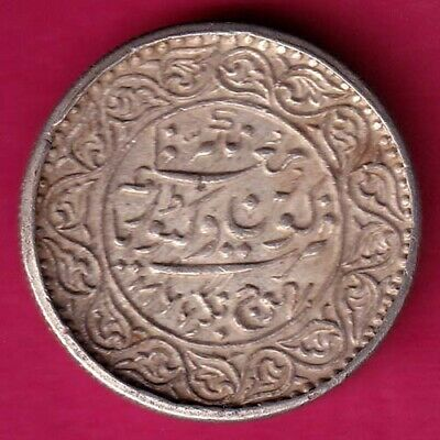 Kutch State About Unc Ah 1866/Vs 1923 Shree Pragmalji Five Kori Silver Coin#Dq30