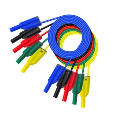 P1050-1 High Quality 4mm Banana Plug Safety Stacked Test Lead Soft Silicone I8M3