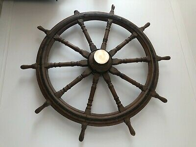 Large (178cm diameter) Ship's Wheel, from a 'Windjammer'