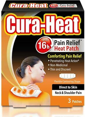 Cura-Heat Neck and Shoulder Pain Direct-to-Skin 3 Patches